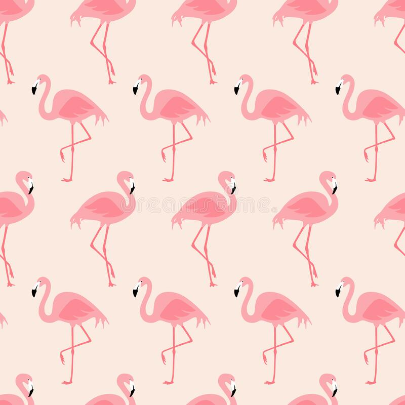 Free Vector Seamless Pattern With Flamingos Royalty Free Stock Image - 169710656