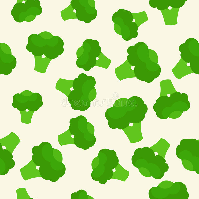 Free Vector Seamless Pattern With Green Bright Broccoli. Healthy Food. Vegetable Summer Pattern, Colorful Print For Design. Stock Photo - 91962490