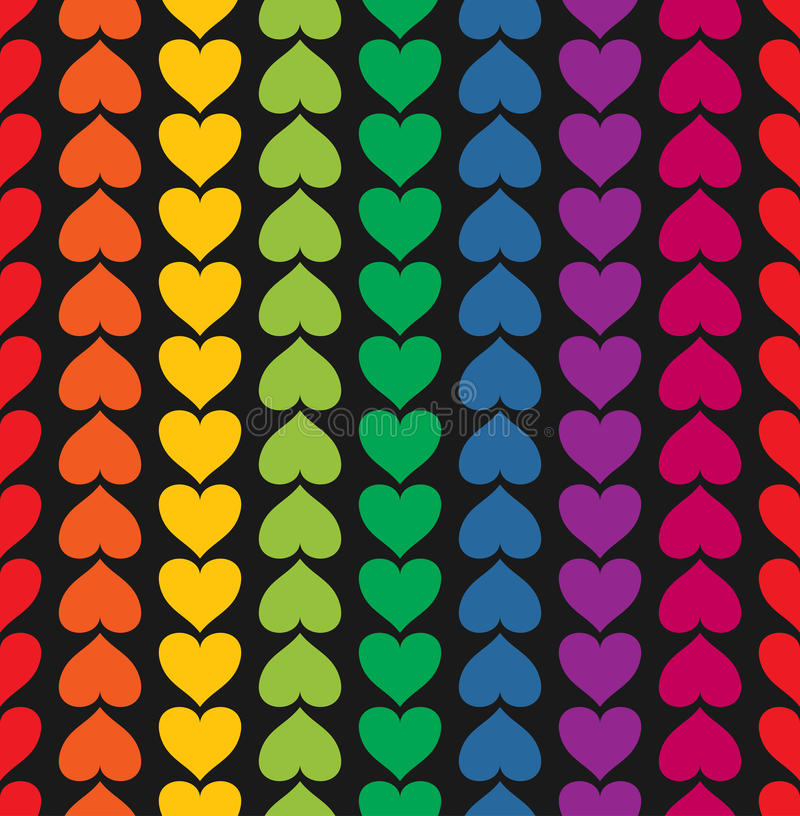 Free Vector Seamless Pattern With Hearts Colored Like Royalty Free Stock Images - 28848969