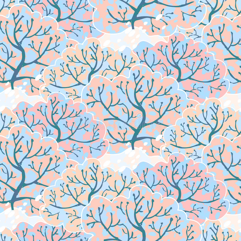 Free Vector Seamless Pattern With Winter Forest Stock Photography - 32824682