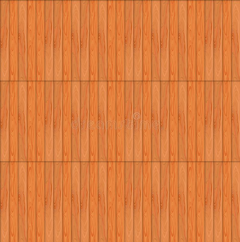 Vector Seamless Pattern, Wooden Texture, Wood Endless Background Template. stock illustration