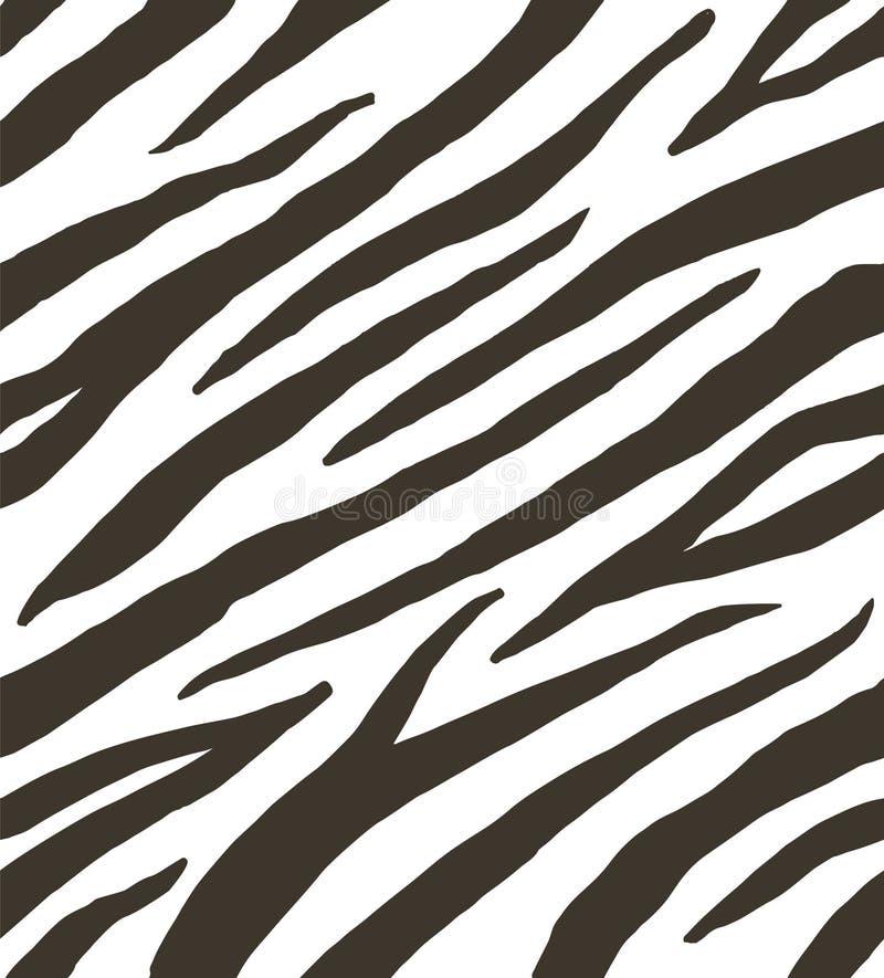 Vector seamless pattern of zebra stripes print stock illustration