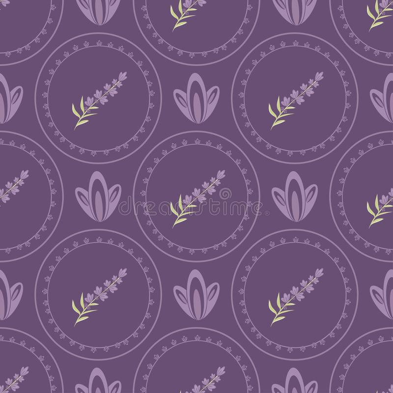 Vector Seamless patterns  Lavender in the style of Provence vector illustration
