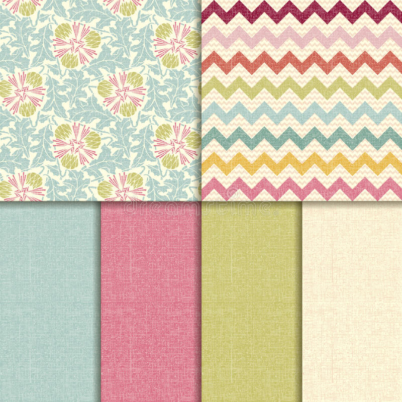 Vector seamless pattern. linen texture background royalty free stock photography