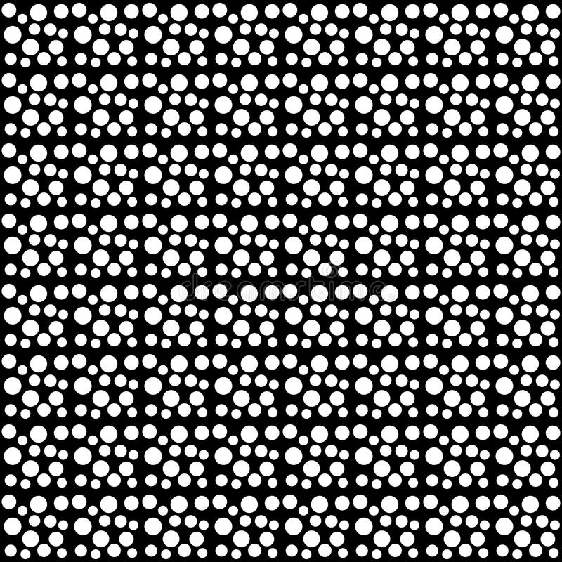 Vector seamless polka dots abstract pattern black and white. abstract background wallpaper. vector illustration. Many uses for paintings,printing,mobile stock illustration