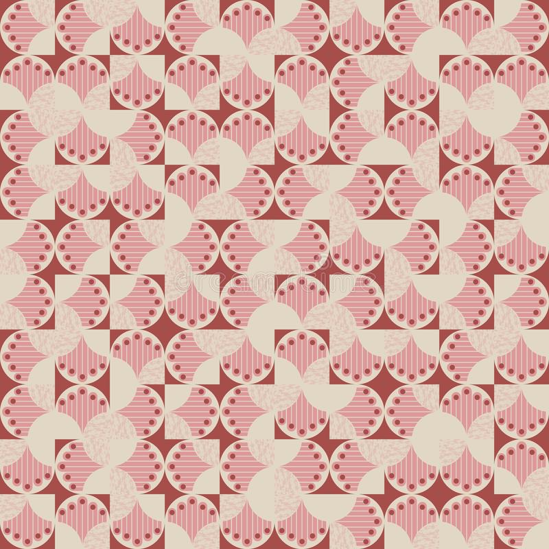 Vector seamless random geometric irregular pattern with abstract hands and geometric shapes background for fabric vector illustration