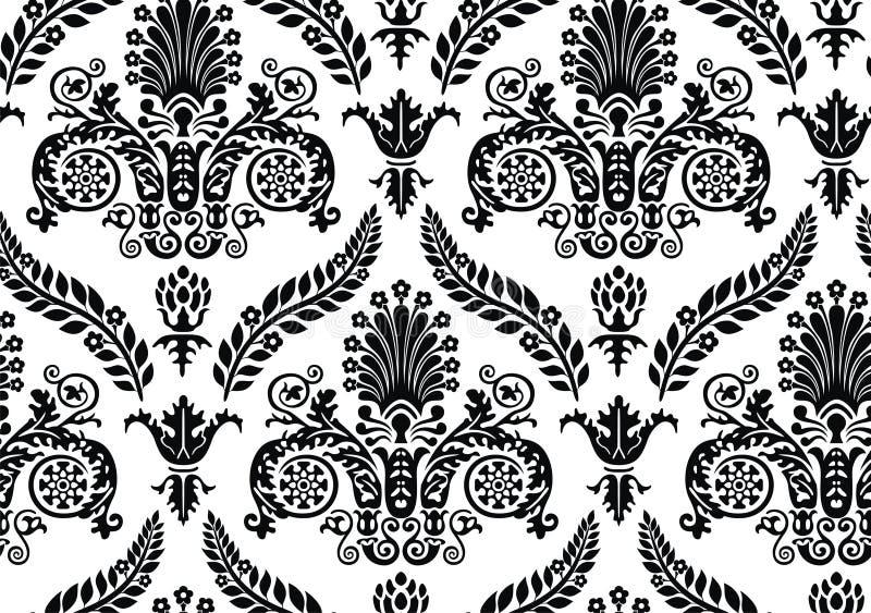 Vector. Seamless Renaissance Wallpaper vector illustration