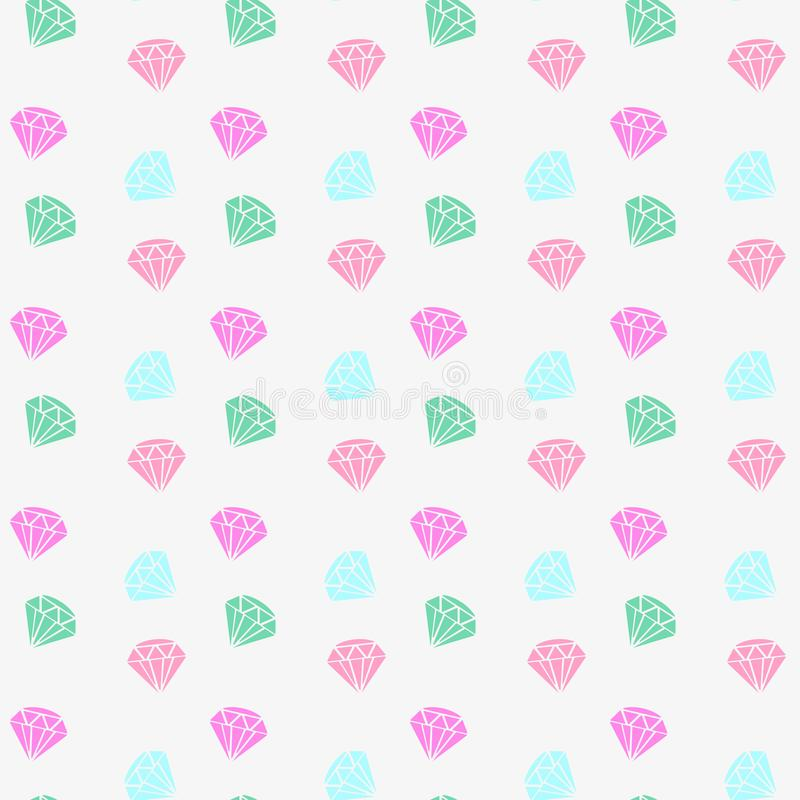 Vector seamless retro pattern, with colorful diamonds. Can be used for wallpaper, pattern fills, web page background, surface text vector illustration