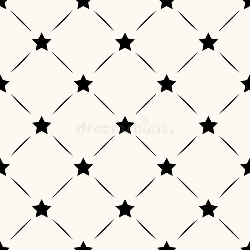 Vector seamless retro pattern with stars stock illustration