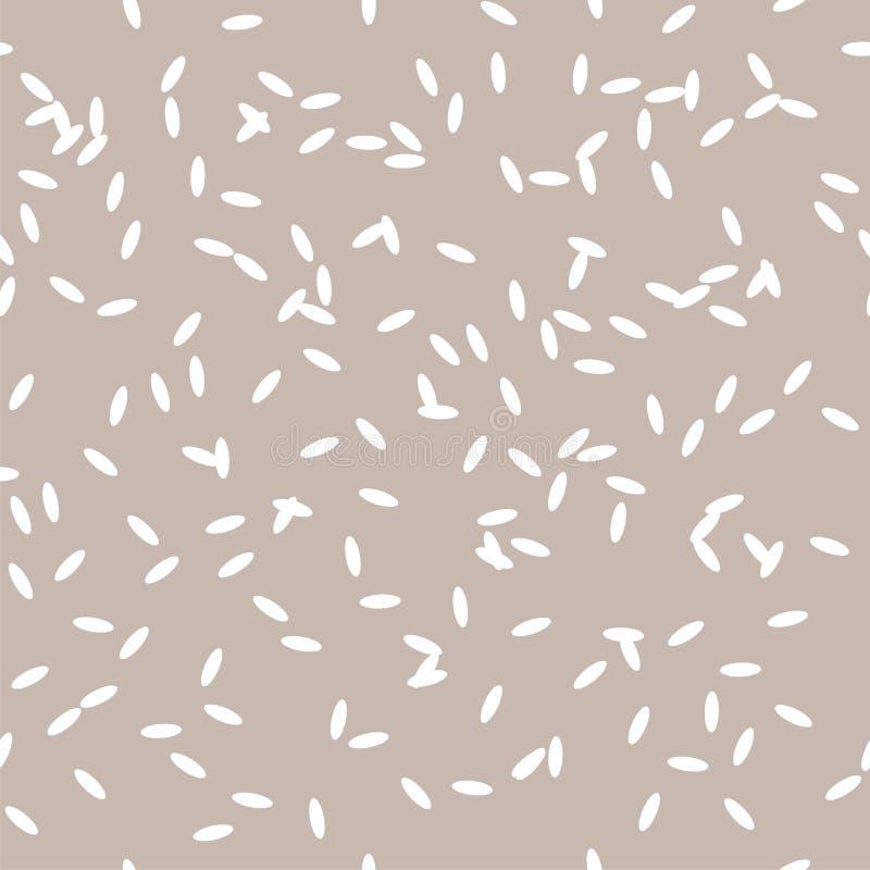 Concept Simple Rice Grain Pattern Stock Vector