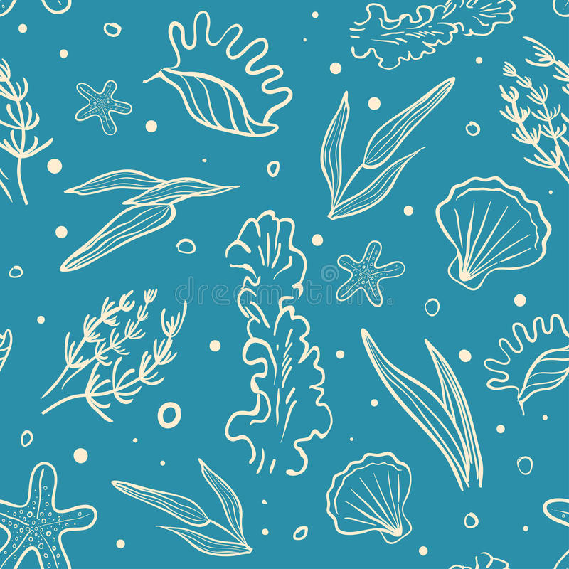 Download Vector Seamless Sea Pattern Stock Vector - Illustration of nature, blue: 37278983