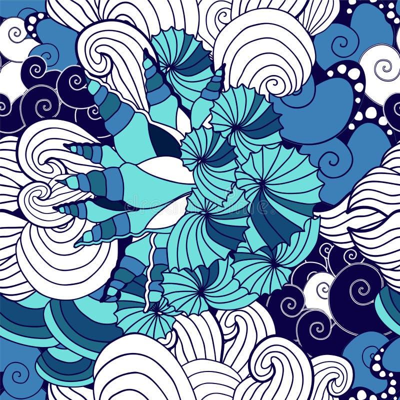 Free Vector Seamless Seashell Pattern. Sea Design Stock Photos - 54745673