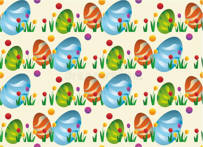 Vector seamless simple pattern with ornamental eggs. Easter holiday for printing on fabric, paper for scrapbooking, gift wrap and vector illustration