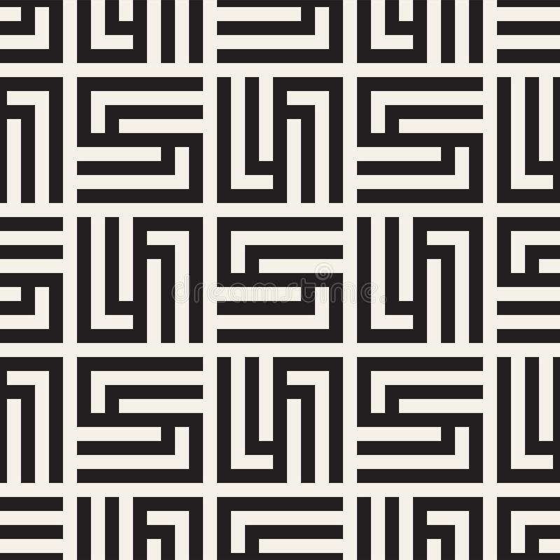 Vector seamless subtle lattice pattern. Modern stylish texture with monochrome trellis. Repeating geometric grid. stock illustration
