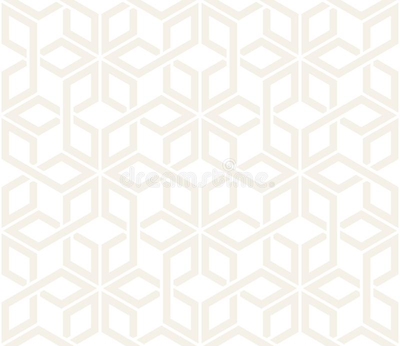 Vector seamless subtle pattern. Modern stylish abstract texture. Repeating geometric tiling from striped elementsr stock illustration