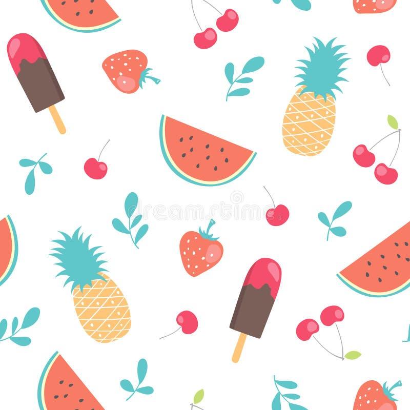 Vector seamless summer pattern stock photos