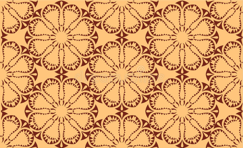 Vector seamless symmetric pattern royalty free stock photography