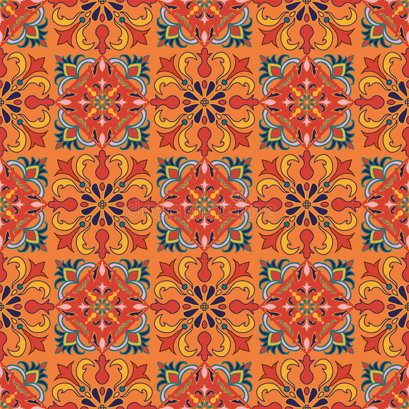 Vector seamless texture. Beautiful colored pattern for design and fashion royalty free illustration