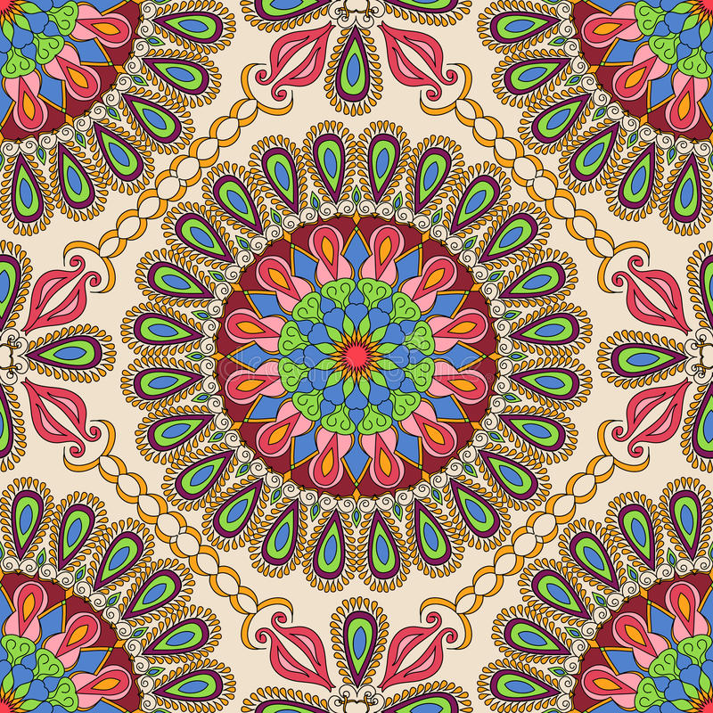 Vector seamless texture. Beautiful mandala pattern for design and fashion with decorative elements in ethnic indian style. Talavera, Asian, Ottoman, Turkish