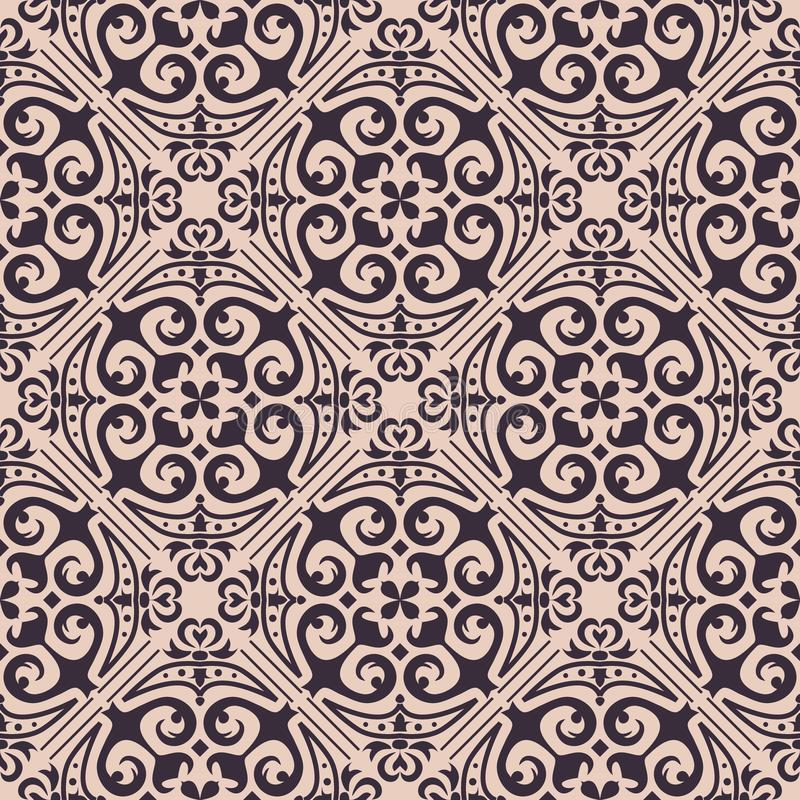 Vector seamless texture. Ornament for ceramic tile. Portuguese azulejos decorative pattern royalty free illustration