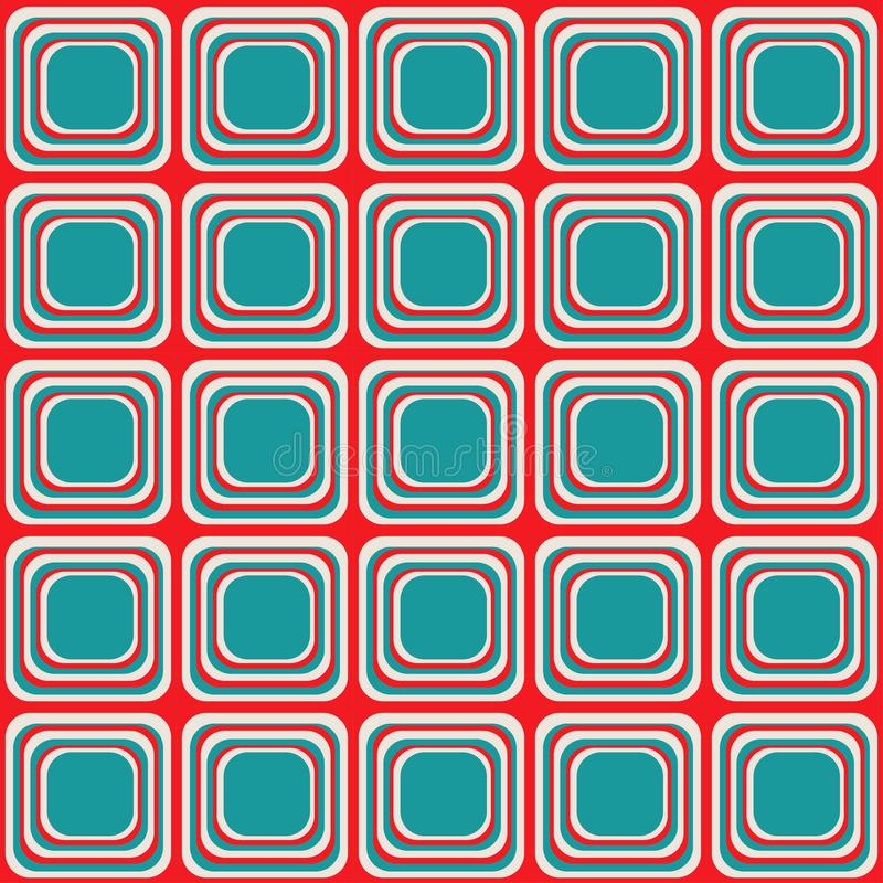 Vector seamless texture with rounded squares looking like old tv royalty free illustration