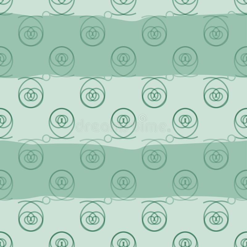 Vector seamless texture. Soft blossom contour on a wavy background royalty free illustration