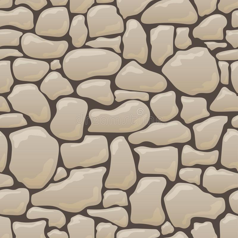 Vector seamless texture of stones in brown colors. vector illustration