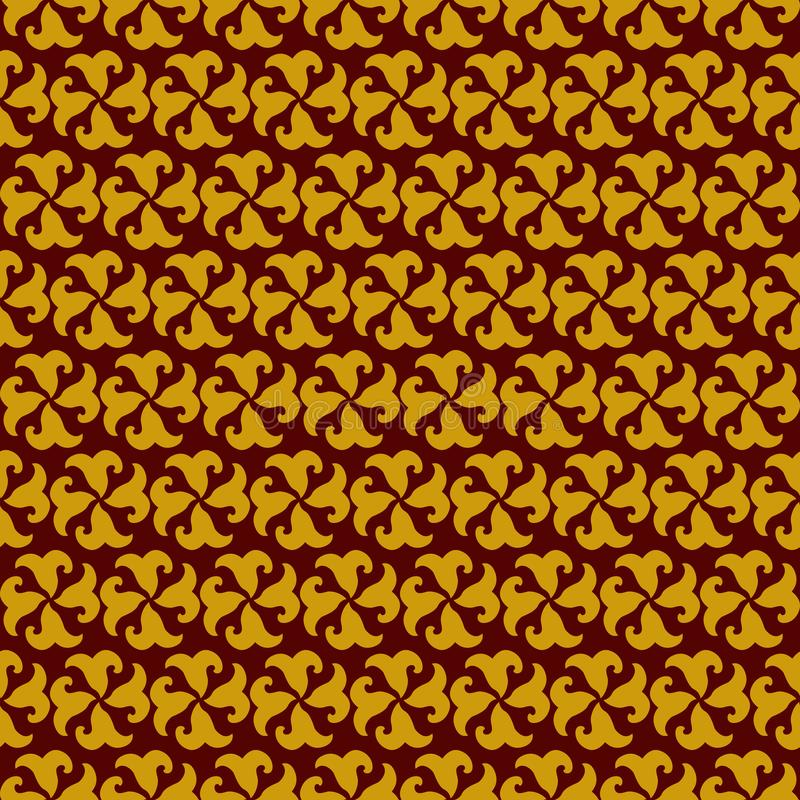 Vector seamless thai pattern abstract background stock illustration