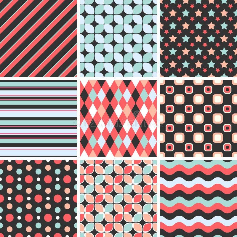 Vector Seamless Tiling Patterns - Geometric Stock Illustration ...