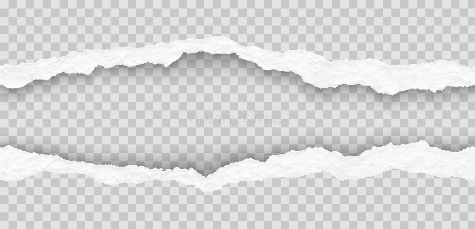 Vector seamless torn paper edges. Seamless torn paper edges, vector illustration royalty free illustration
