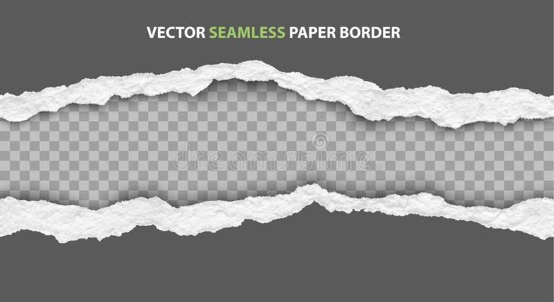 Vector seamless torn paper edges. Seamless torn paper edges, vector illustration vector illustration