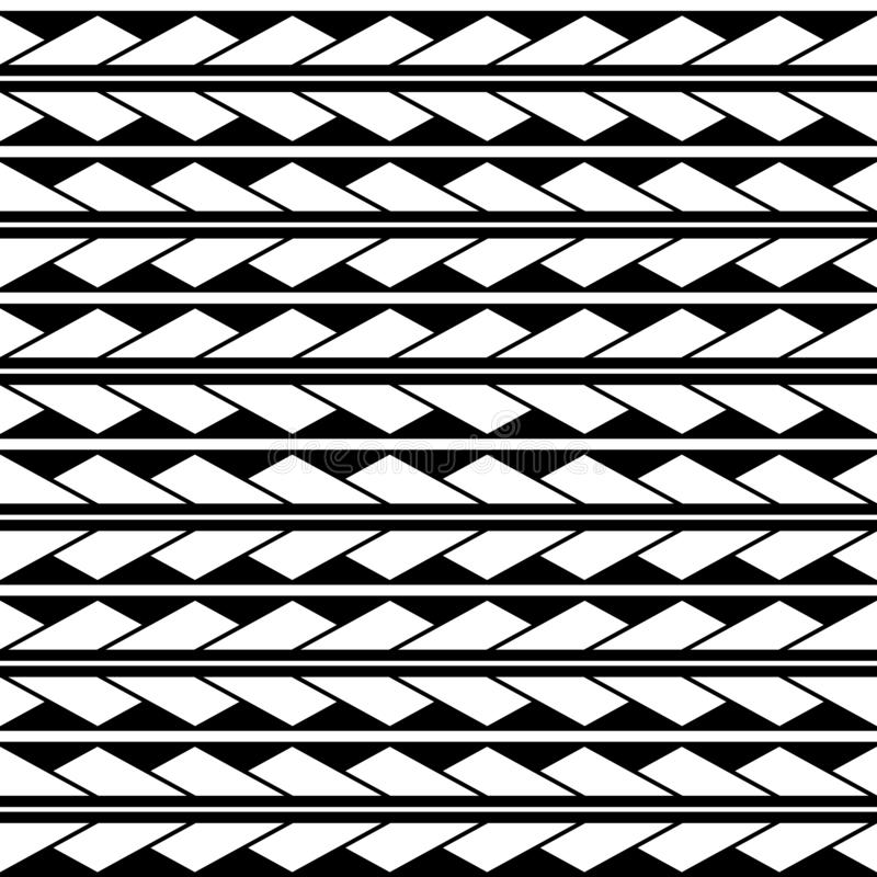 Vector seamless triangles rhombus pattern ornament maori, ethnic, japan style. Modern style texture. royalty free illustration