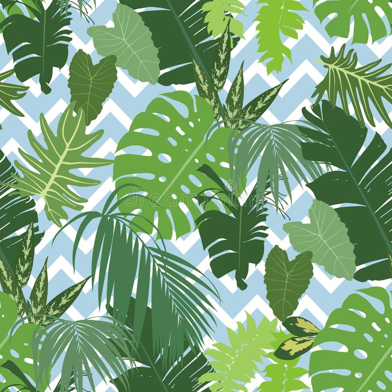Vector seamless tropical pattern royalty free illustration