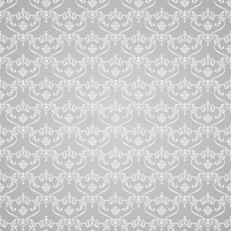 Vector seamless vintage background. Calligraphic stock illustration