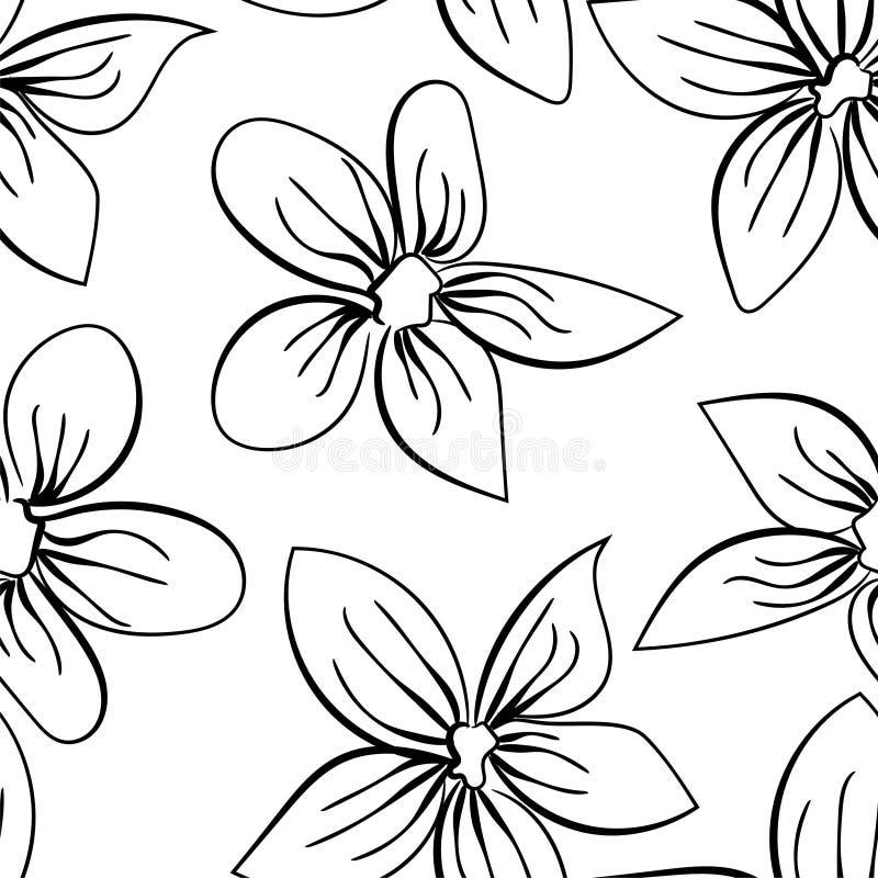 Vector seamless vintage floral pattern. Black design element. Background decoration. Flower background. vector illustration