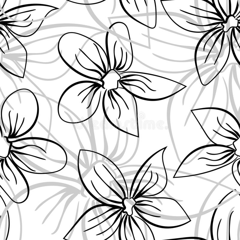 Vector seamless vintage floral pattern. vector illustration