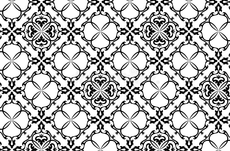 Vector seamless wallpaper 5 royalty free illustration