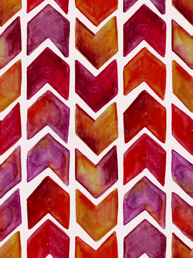 Vector Seamless Watercolor Geometric Pattern royalty free illustration