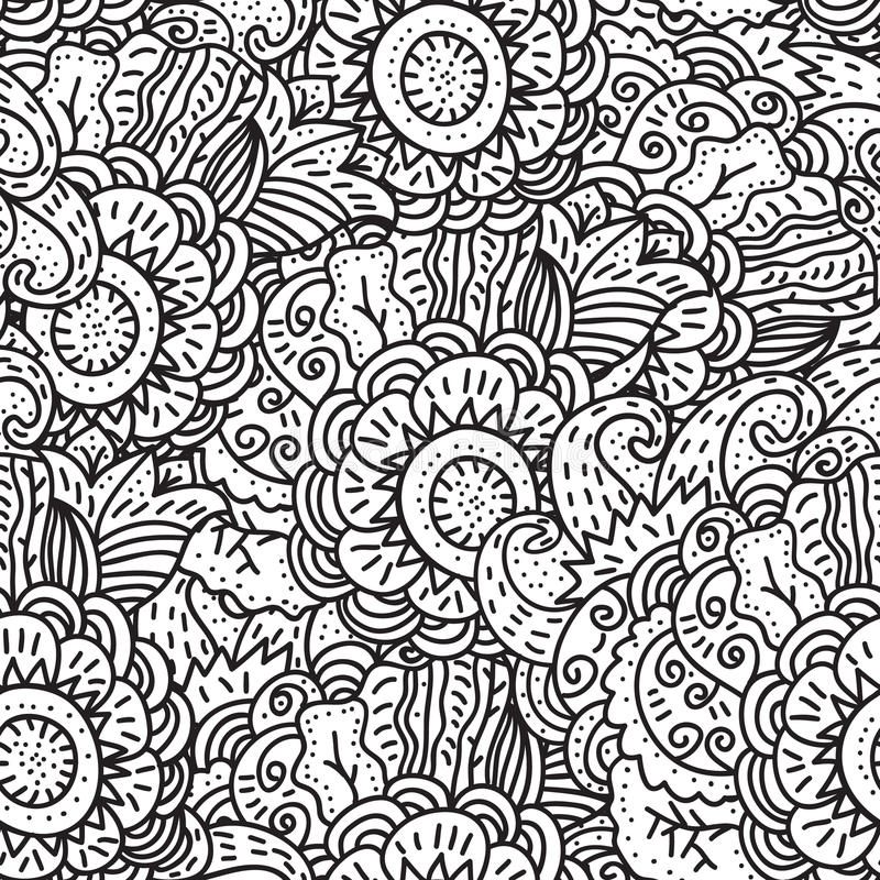 Vector seamless pattern royalty free illustration