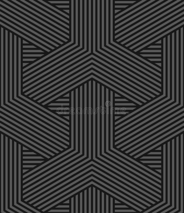 Vector seamless weave geometric pattern - dark gray striped texture. Endless linear background. vector illustration
