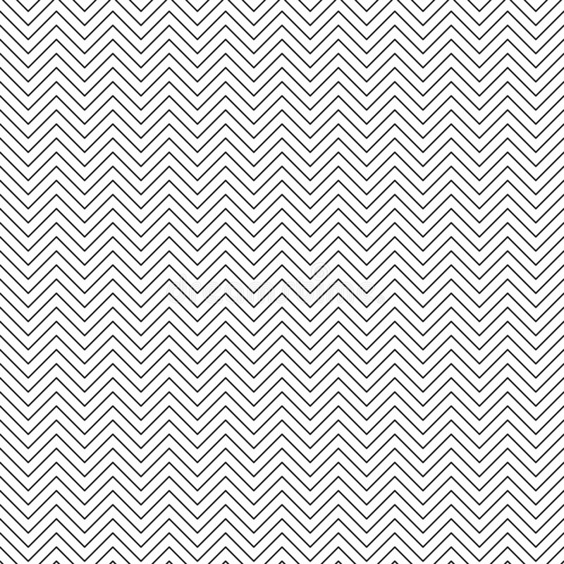 Vector seamless zigzag pattern. Chevron line texture. Black-and-white background. Monochrome minimal design. Vector EPS 10 vector illustration