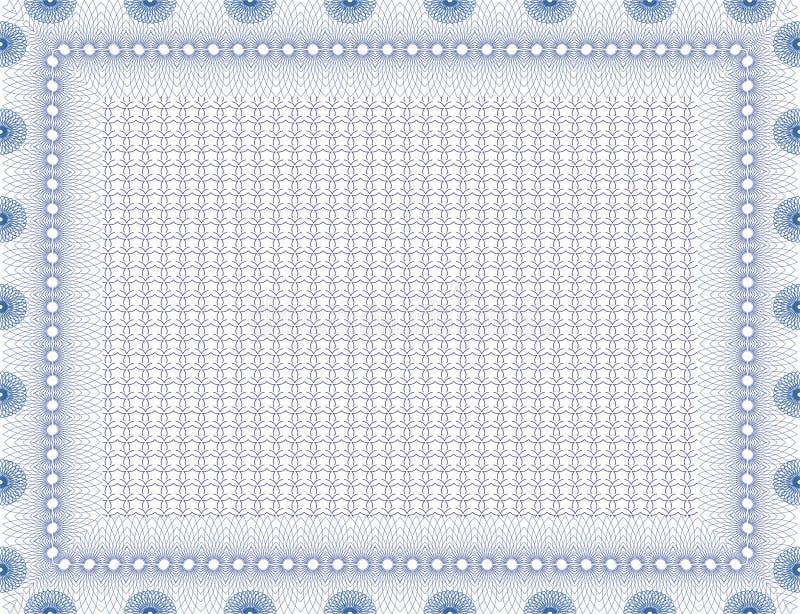 Vector secure blank certificate vector illustration