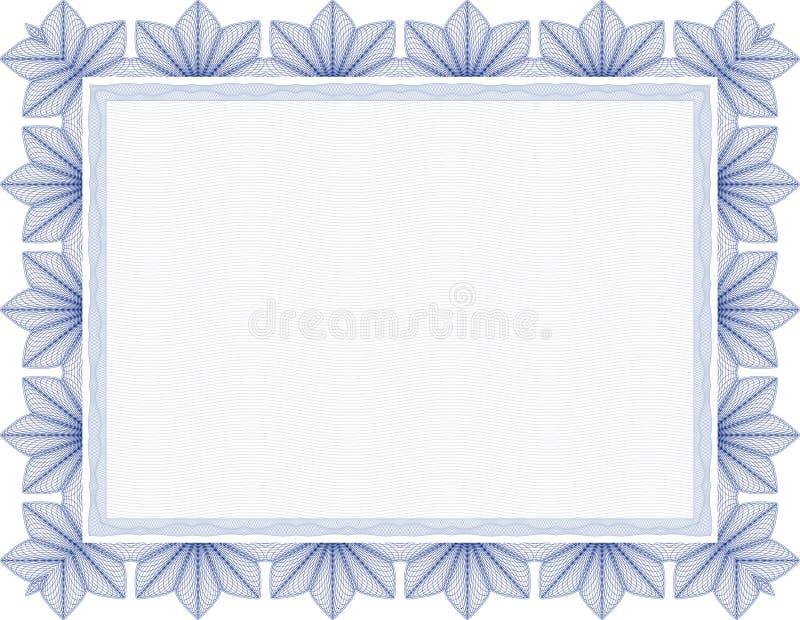 Vector Secure blank guilloche certificate vector illustration