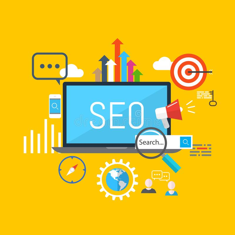 Vector SEO concept royalty free illustration