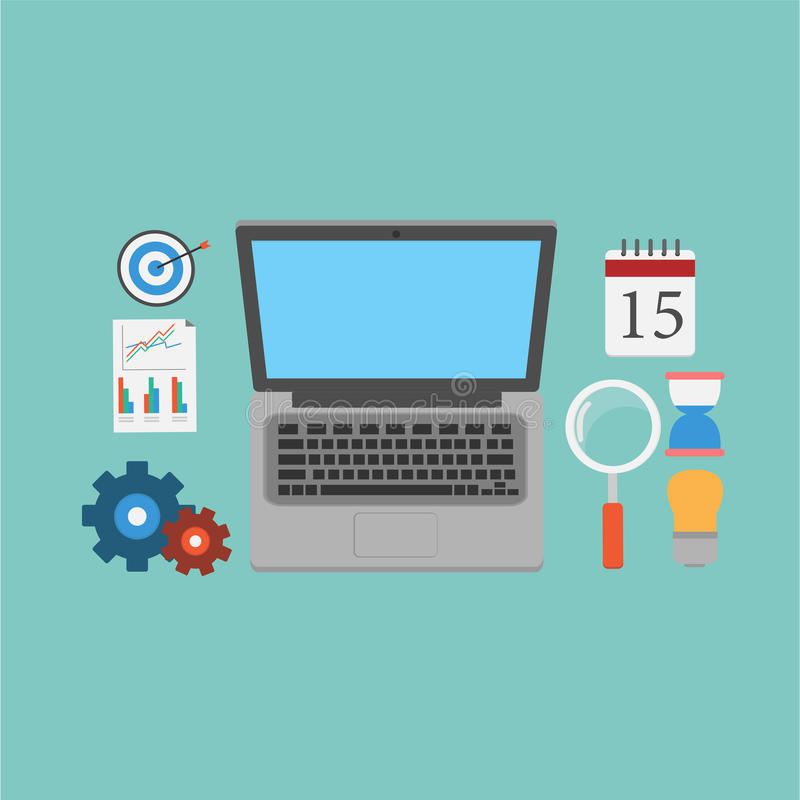 Download Vector Of SEO Marketing Elements. Stock Vector - Image: 38899510