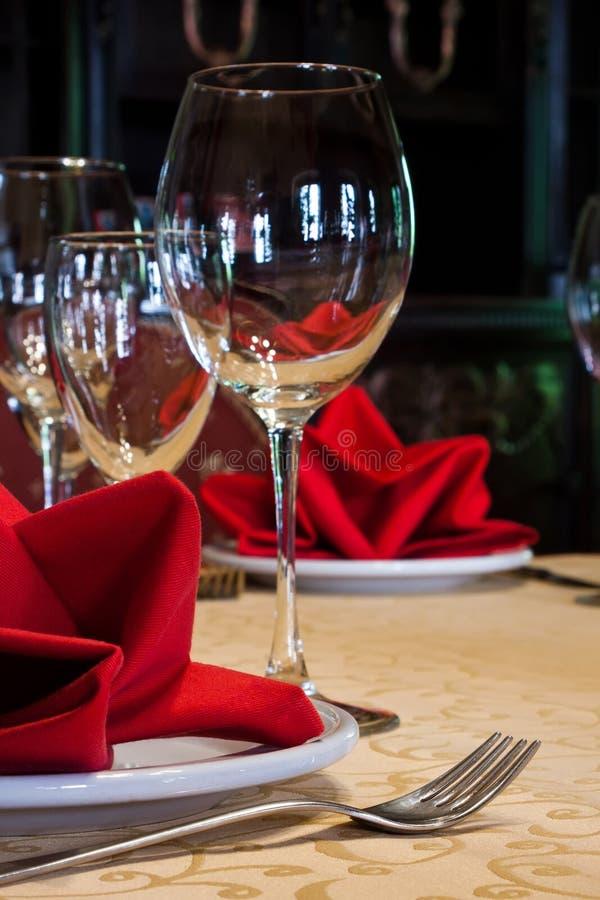 Vector servido en un restaurante fotografía de archivo libre de regalías