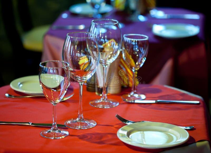 Vector servido en un restaurante imagen de archivo