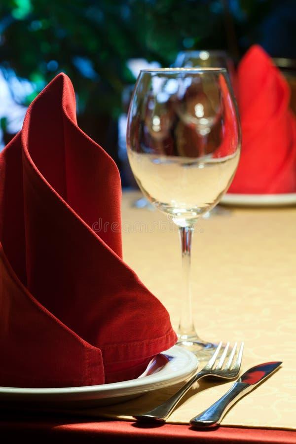 Vector servido en un restaurante imagen de archivo libre de regalías