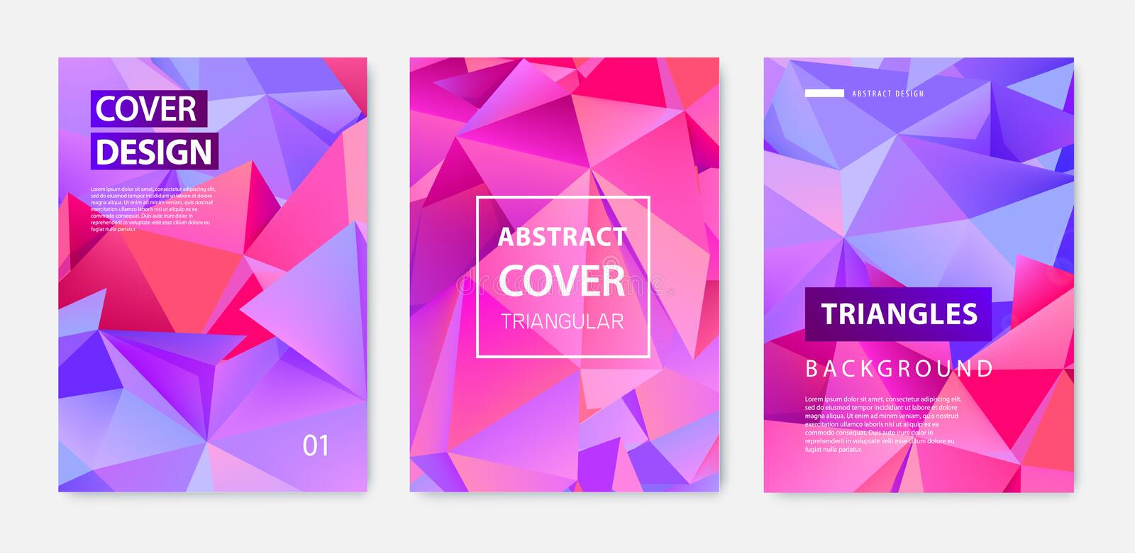 Vector set of abstract geometric covers, banners, posters, flyers, brochures. Text frame surface. a4 template design vector illustration