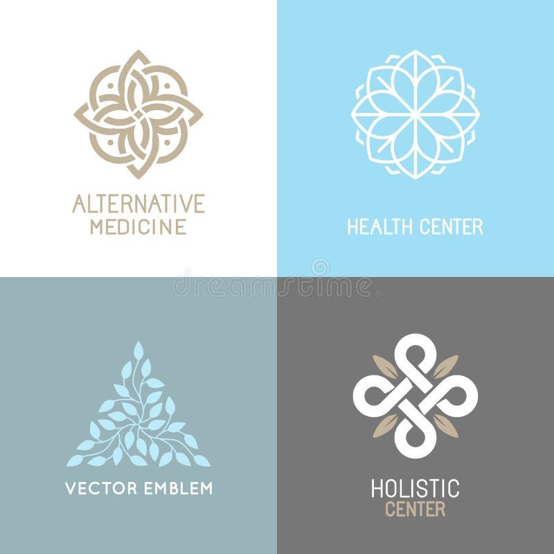 Vector set of abstract logos stock illustration